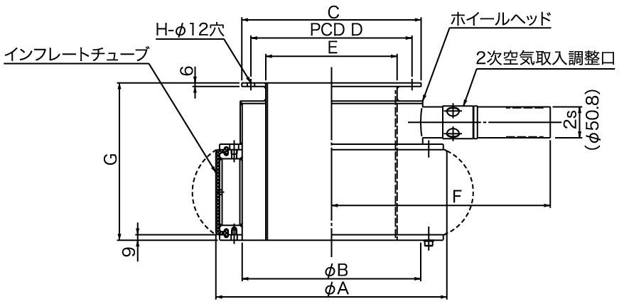 標準タイプ(TCM-I)寸法図