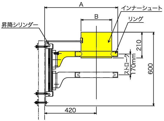 アウタータイプ(TCM-O)寸法図